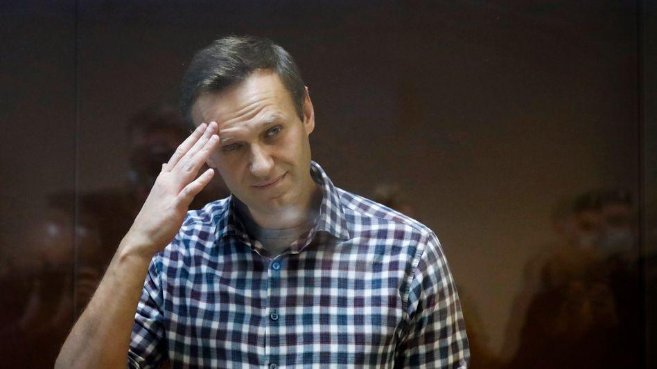 Alexej Nawalny vor Gericht (Februar 2021)