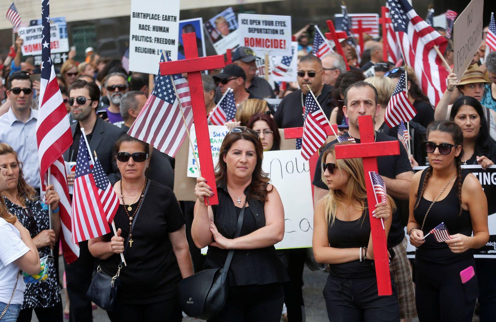 Michigan / Irakische Christen / Protest