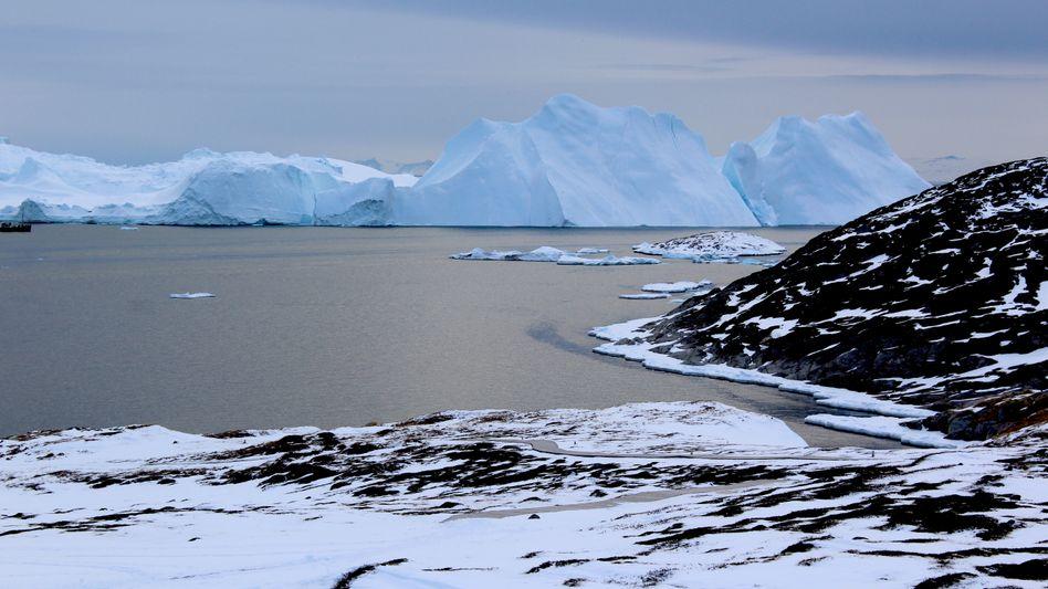 Eisberge vor der Küste Grönlands: Der Schneefall kann den Verlust nicht mehr kompensieren