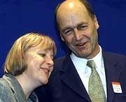 CDU-Politiker Merkel und Meyer: Hoffnung auf einen runden Parteitag