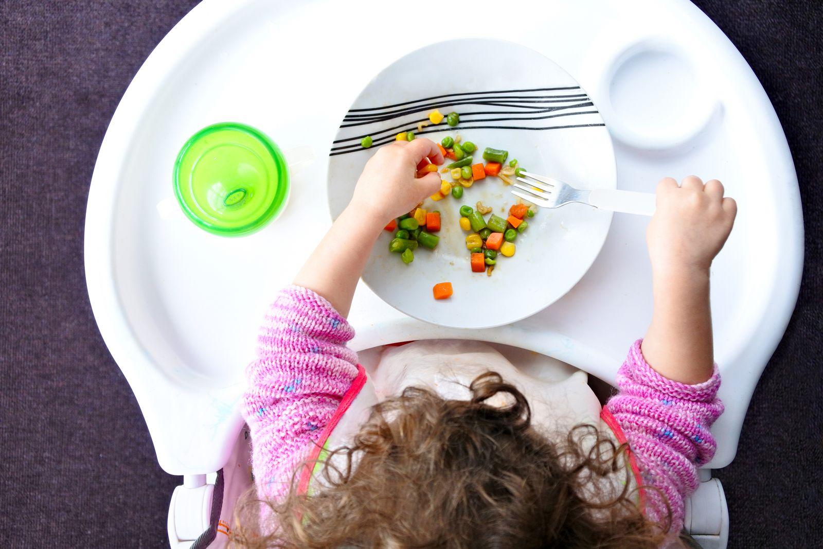 EINMALIGE VERWENDUNG Vegane Ernährung Kinder