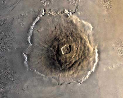 """Olympus Mons, aufgenommen 1978 von der """"Viking 1""""-Sonde: Vulkane könnten noch aktiv sein"""