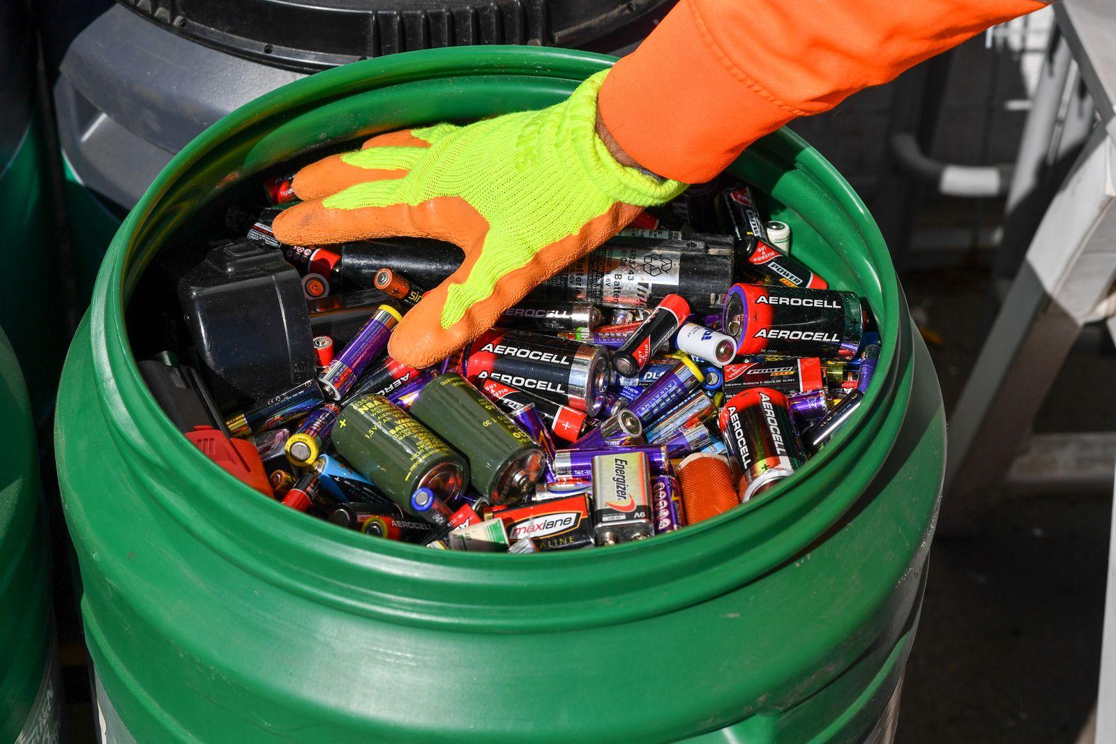 Entsorgung von Batterien