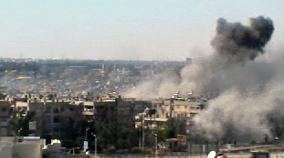 Detonationen in Homs: Uno-Beobachter bestätigen Beschuss durch Armee-Hubschrauber