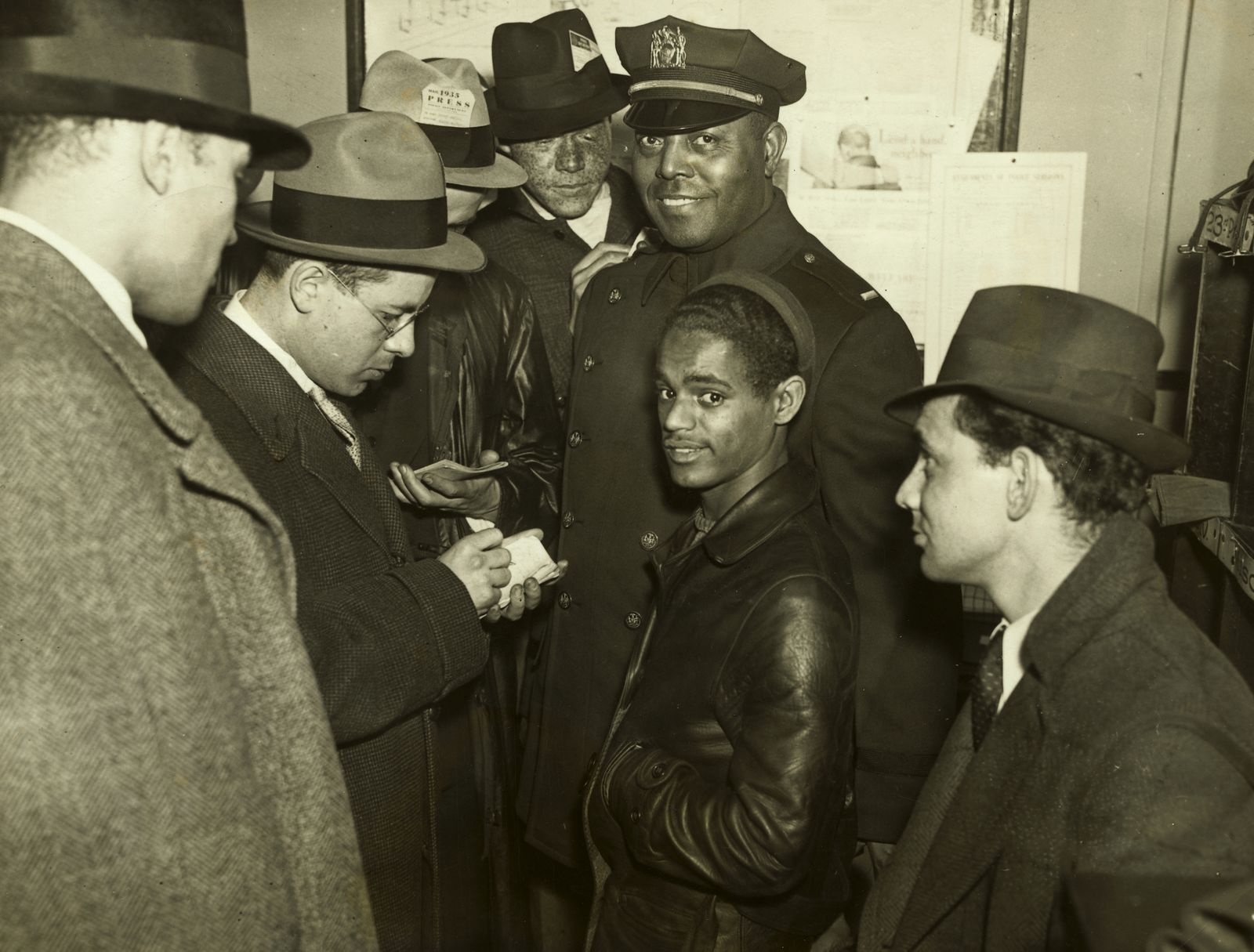 Police and Young Boy who Started Early Harlem Riot