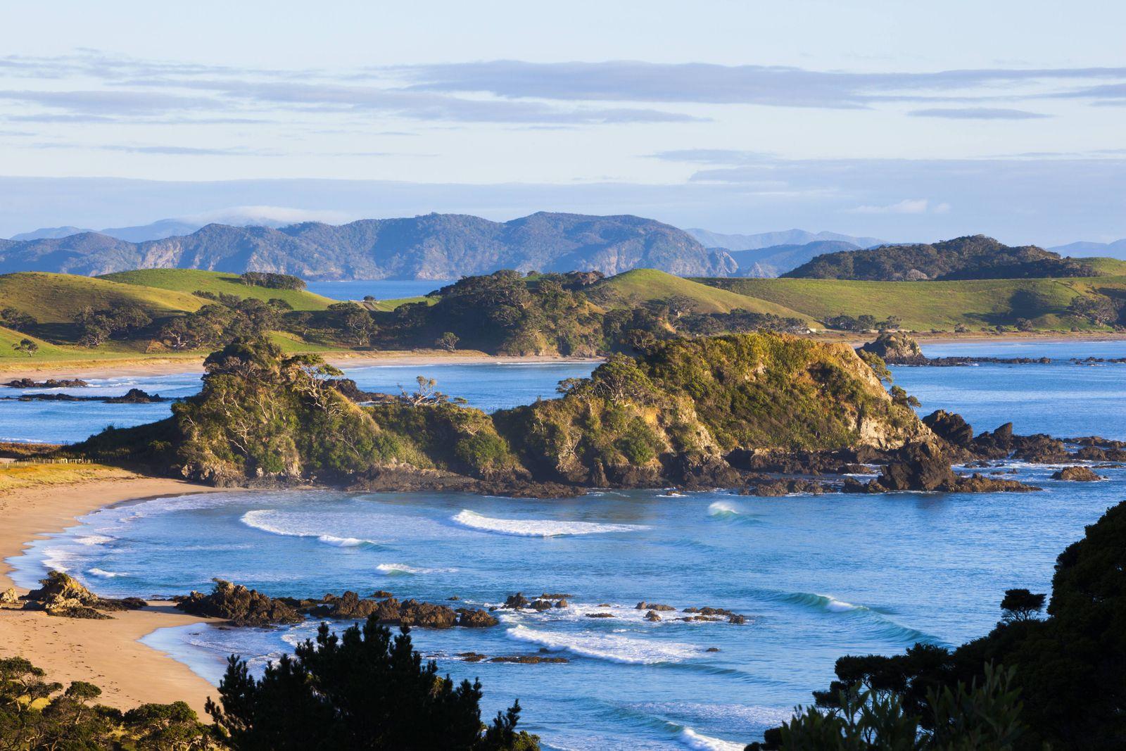 Dramatic coastal landscape near Whangarei Northland North Island New Zealand Pacific PUBLICATION