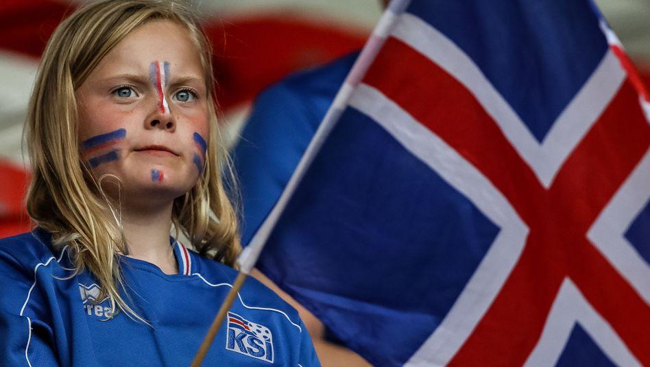 Isländischer Fußballfan