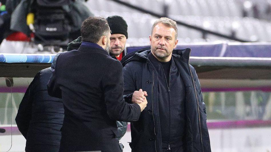 Bayerns Sportvorstand Hasan Salihamidžić und Coach Hansi Flick