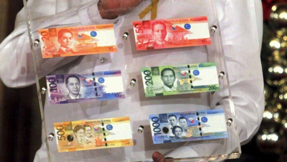 Neue philippinische Pesos: Auf der abgebildeten Landkarte fehlen zahlreiche Inseln
