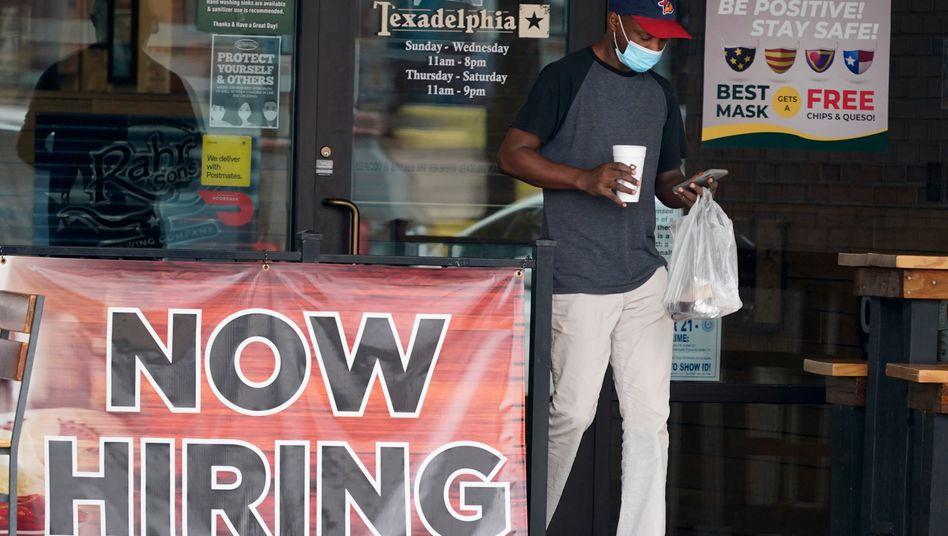 Straßenszene in Richardson, Texas: 1,4 Millionen neue Jobs im August