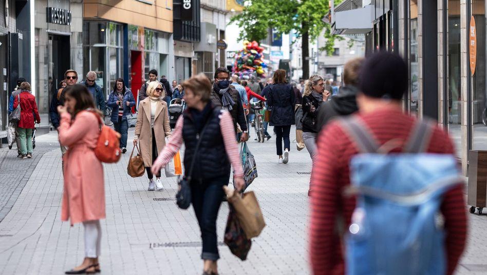 Innenstadt von Hannover im April: Das Defizit entspricht 3,2 Prozent des Bruttoinlandsprodukts