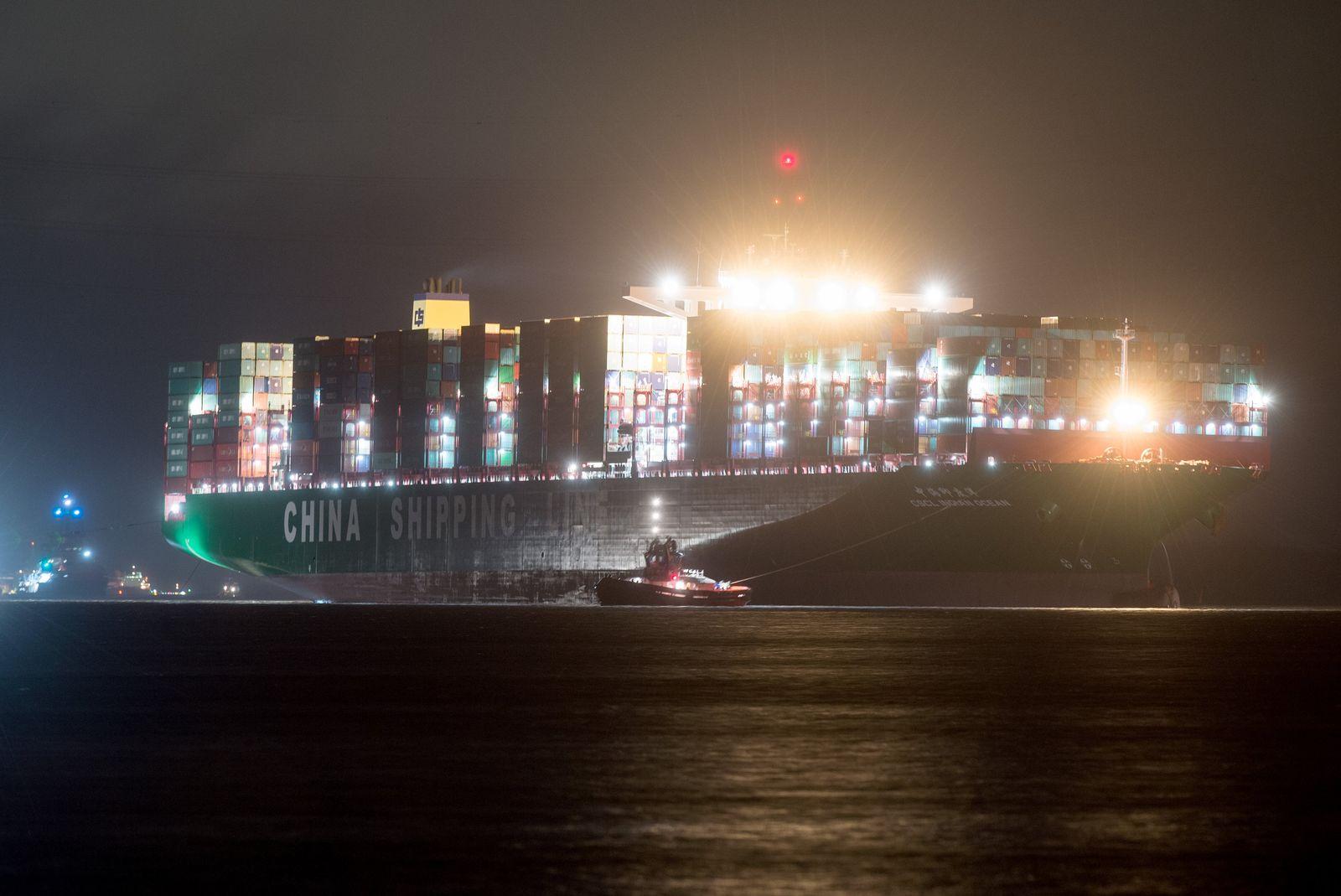 "Bergung des Containerfrachters ""CSCL Indian Ocean"""
