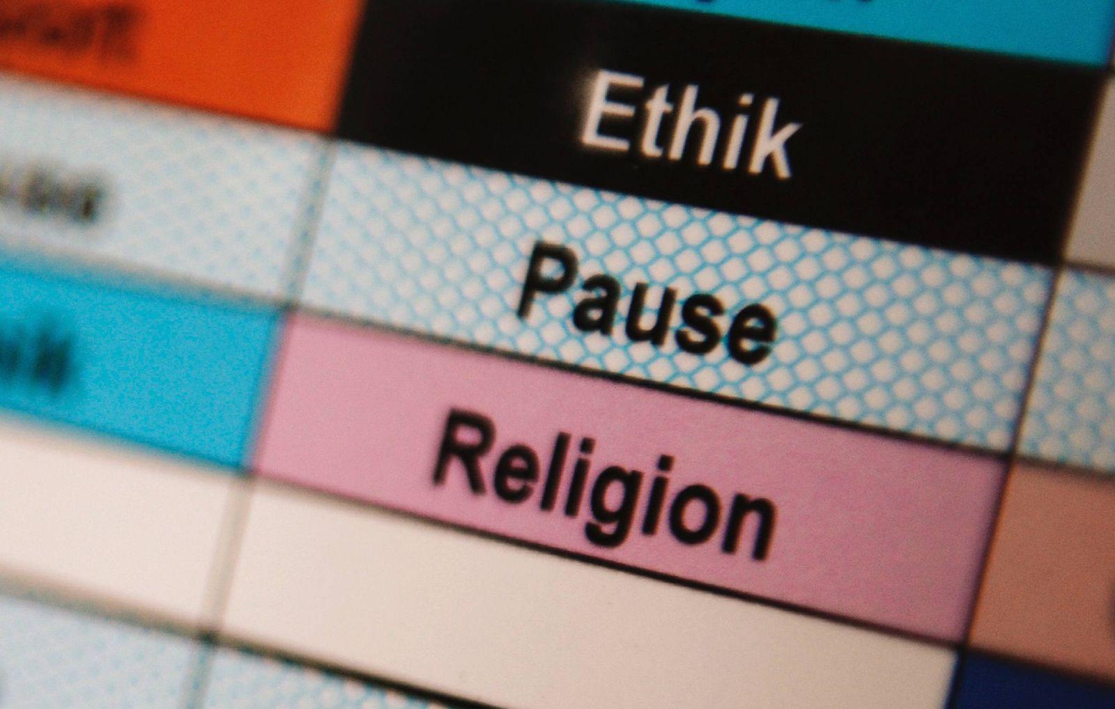 """NICHT VERWENDEN Stundenplan / Ethik / Religion / Volksentscheid """"Pro Reli"""""""