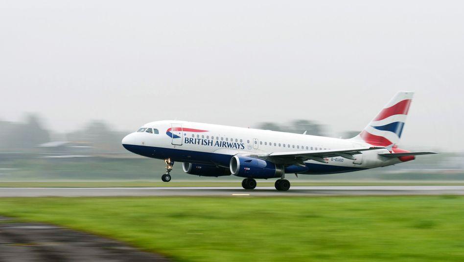 Piloten der Fluggesellschaft British Airways gehen in den Arbeitsstreik