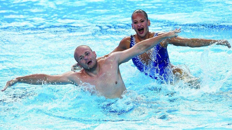 Stoepel, Ebert bei der Schwimm-WM