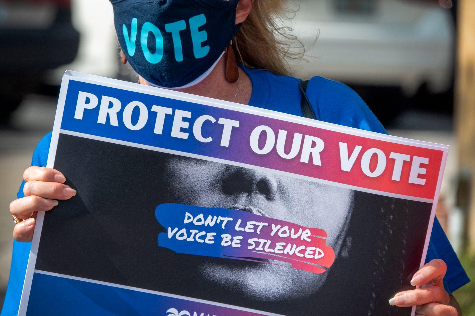Voting Rights March in Miamo, Florida