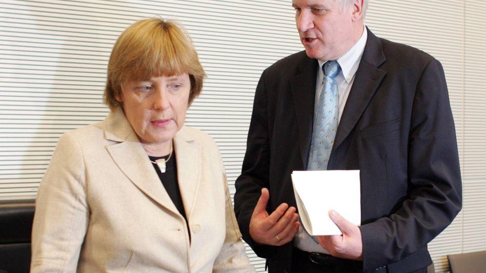 Angela Merkel und Horst Seehofer (2004)