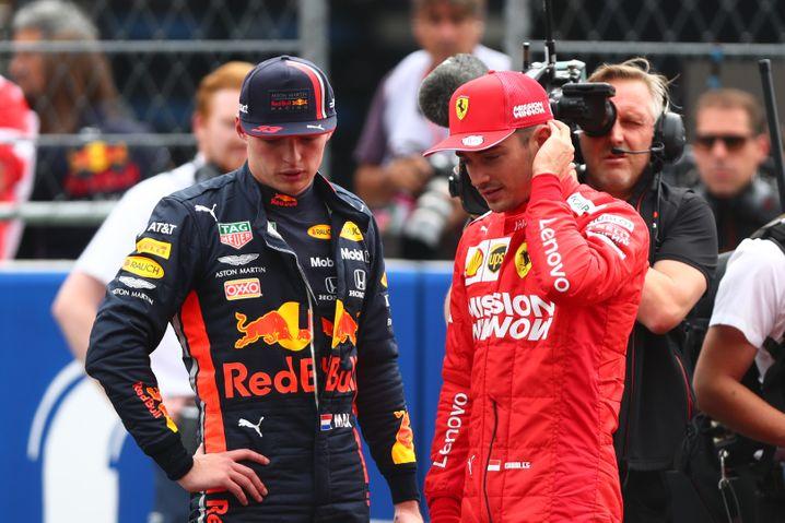 Champions der Zukunft? Max Verstappen (l.) und Charles Leclerc