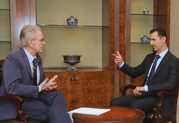 Jürgen Todenhöfer interviewt 2012 den syrischen Präsidenten Baschar al-Assad