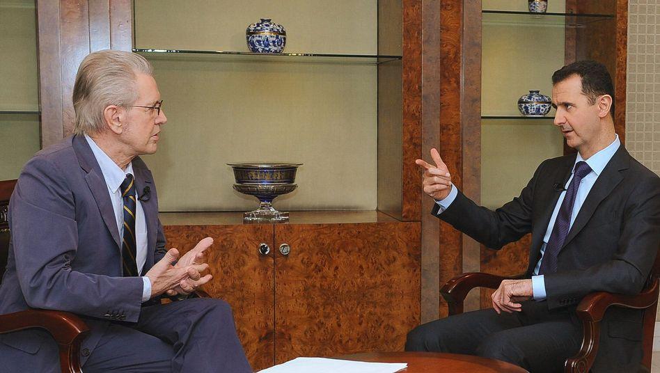 """Präsident Assad im Interview: """"Ein Präsident sollte nicht davonlaufen"""""""