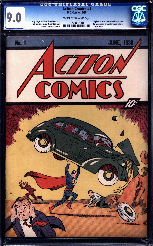 EINMALIGE VERWENDUNG Action Comic Auction/ Superman