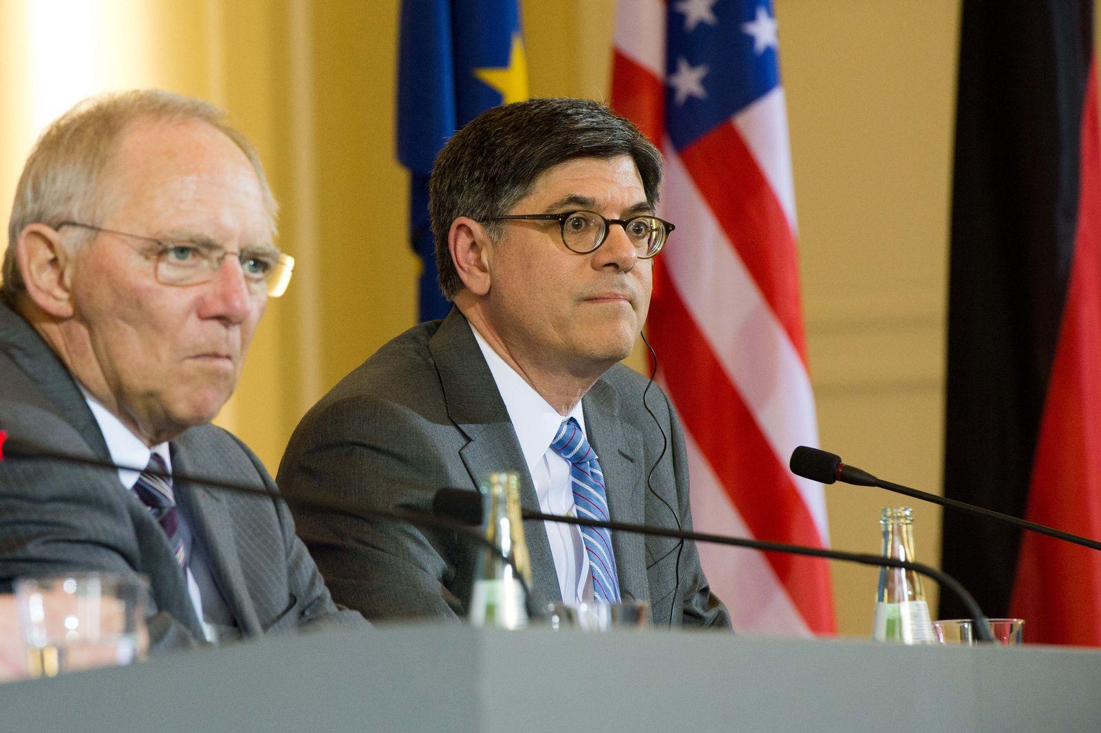 Bilaterales Treffen Lew mit Schäuble