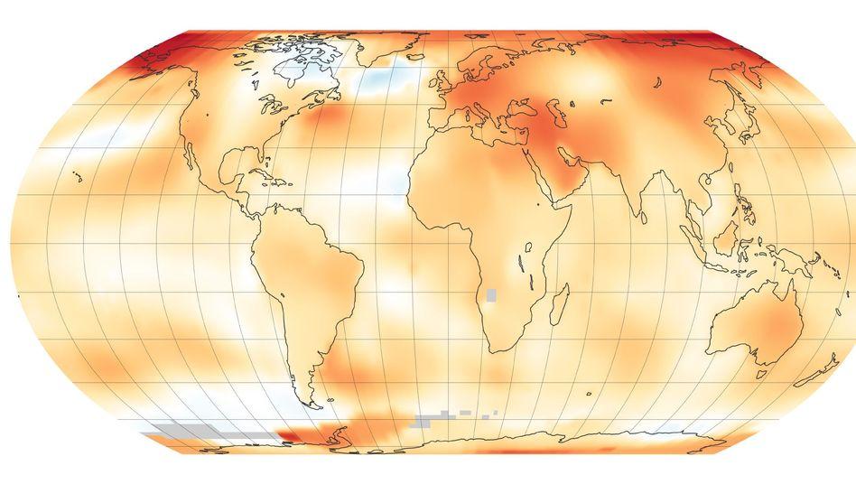 Die vergangenen fünf Jahre waren die heißesten seit Beginn der Wetteraufzeichnungen