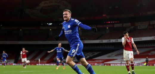 Premier League: Jamie Vardy schießt Leicester City gegen FC Arsenal zum Sieg