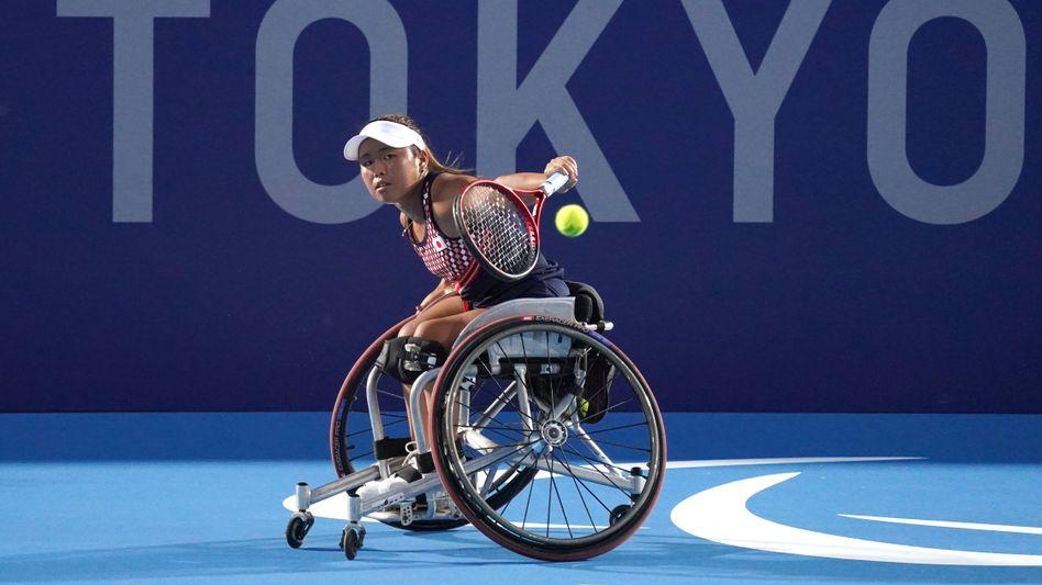 Die japanische Para-Athletin Yui Kamiji während eines Trainings vor den Paralympics