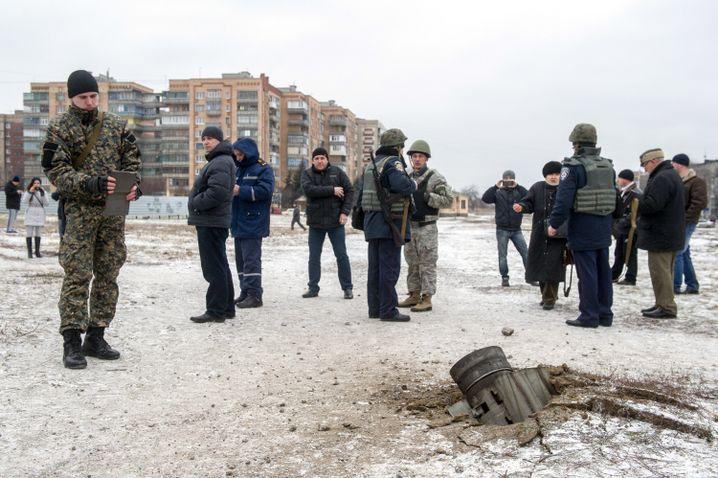 Kramotorsk am 10. Februar 2015: Angriff auf das ukrainische Hauptquartier