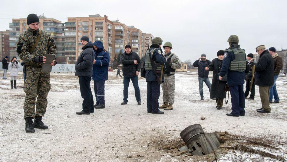 Raketeneinschlag in Kramatorsk: Rebellen bestreiten Verantwortung