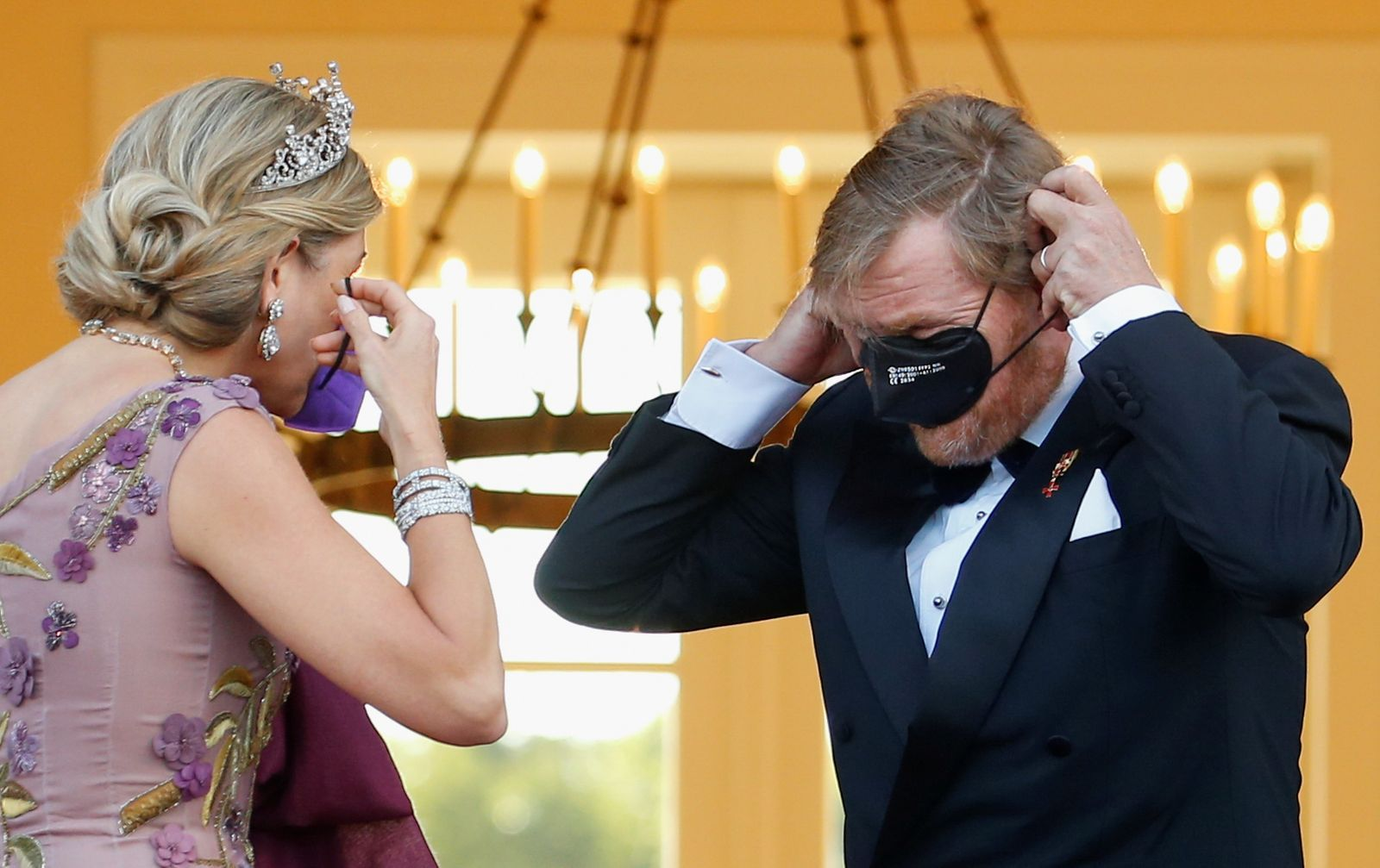 King Willem-Alexander, Queen Maxima of the Dutch Royal family arrive at Bellevue Palace in Berlin