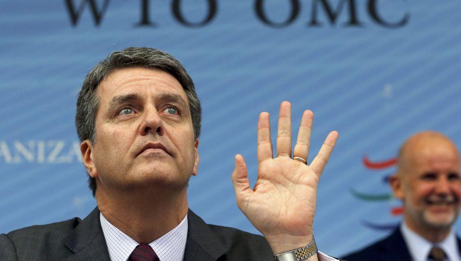 WTO-Chef Azevêdo (l.): Erstes Welthandelsabkommen angenommen