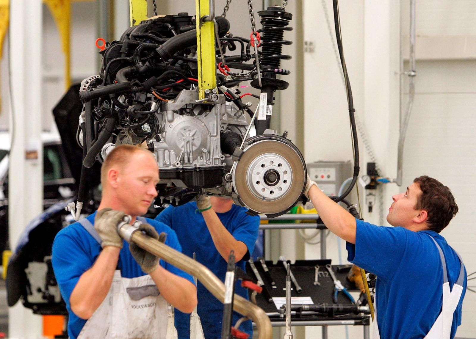 Produktion im Volkswagen-Werk in Russland