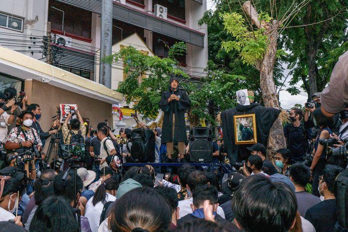 Anti-Regierungsprotete Anfang August 2020 in Bangkok: Der bisher weiteste Schritt