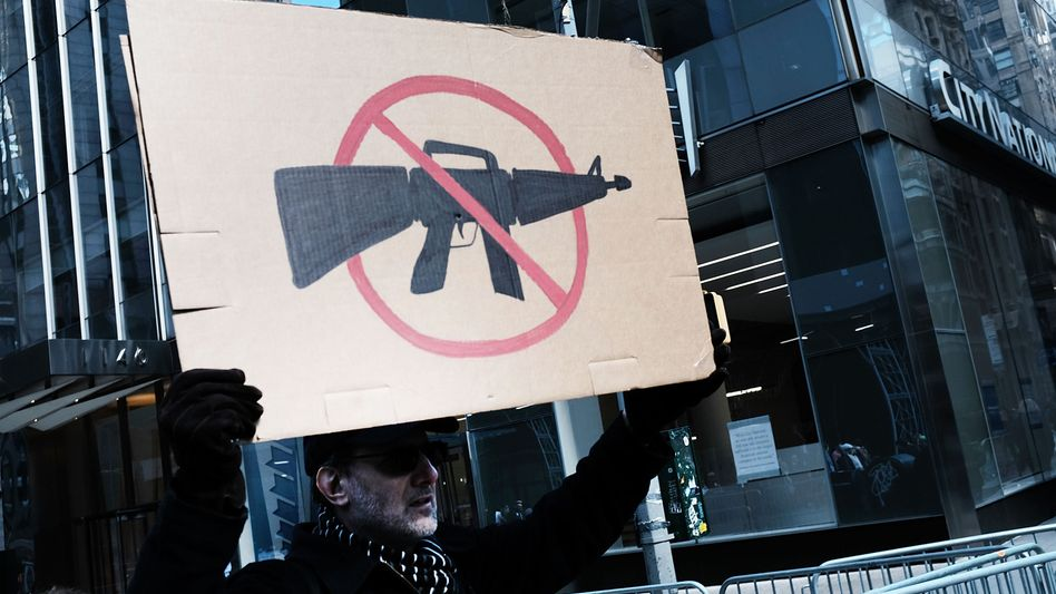 """Anti-Waffen-Demonstrant beim """"March for Our Lives"""" in New York"""