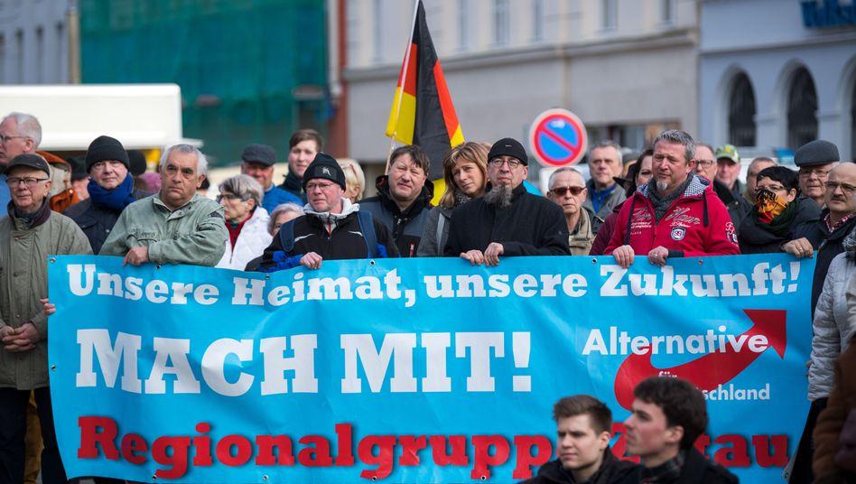 Kundgebung der AfD Görlitz im Frühjahr 2018