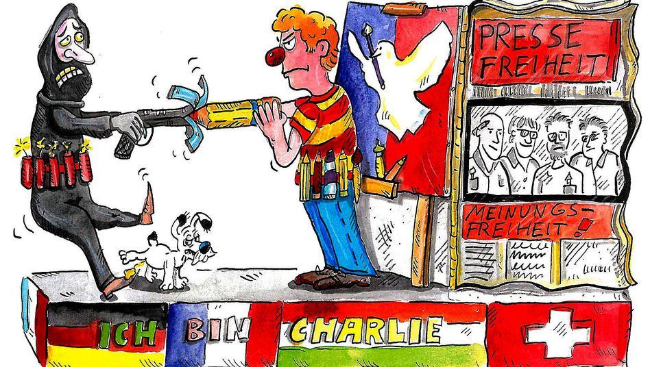 "Rückzieher: Kölner Karneval stoppt ""Charlie Hebdo""-Wagen"