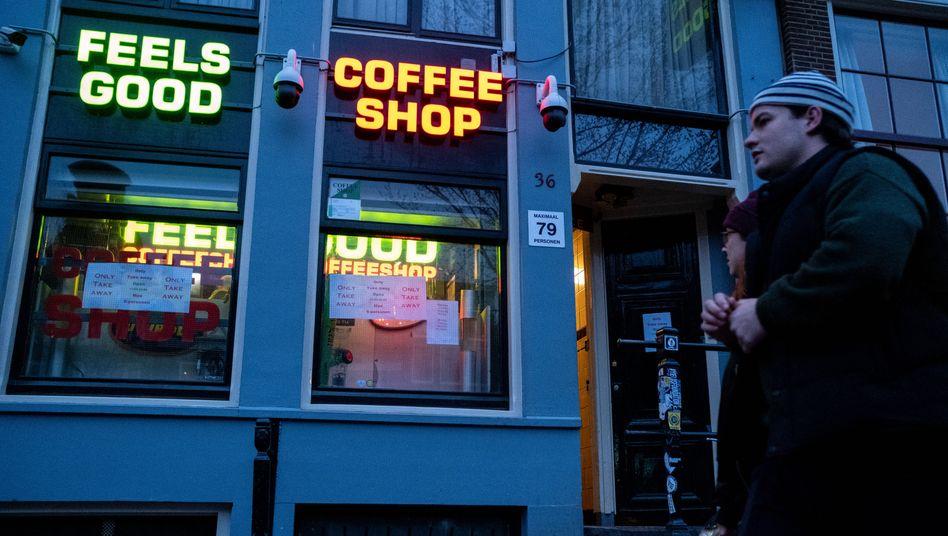 Coffeeshop in Amsterdam (Symbolbild)