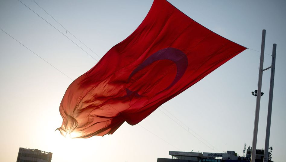 Türkische Fahne in Istanbul