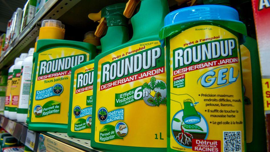 Glyphosathaltiger Unkrautvernichter Roundup