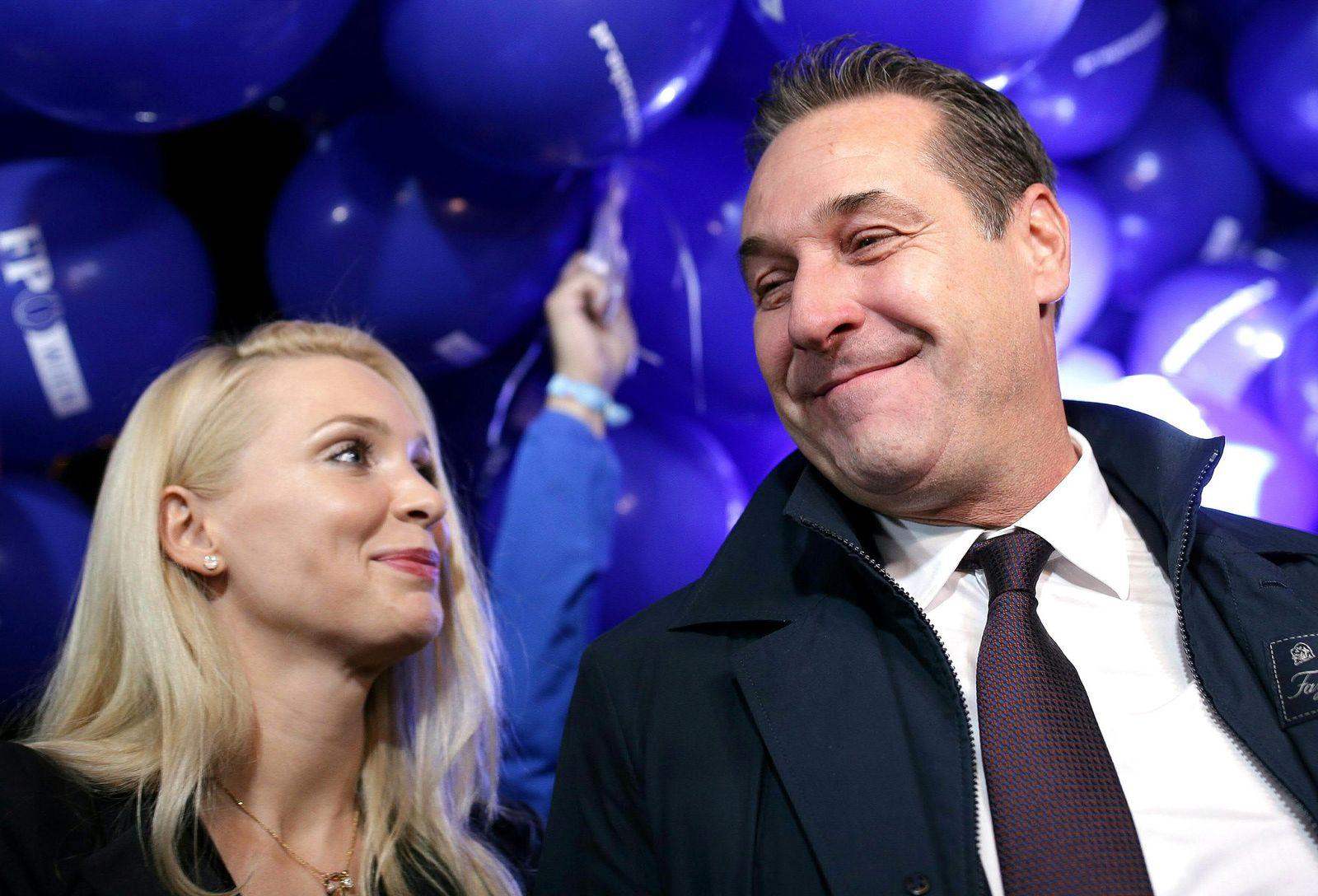 Philippa und Heinz-Christian Strache