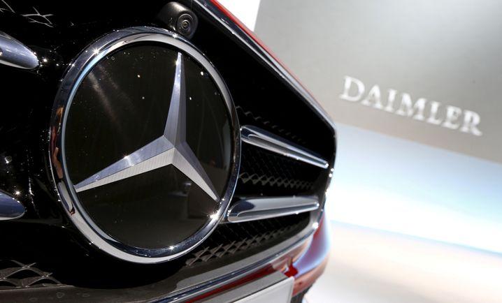 Mercedes-Benz-Modell bei einem Daimler-Event (Archivbild)