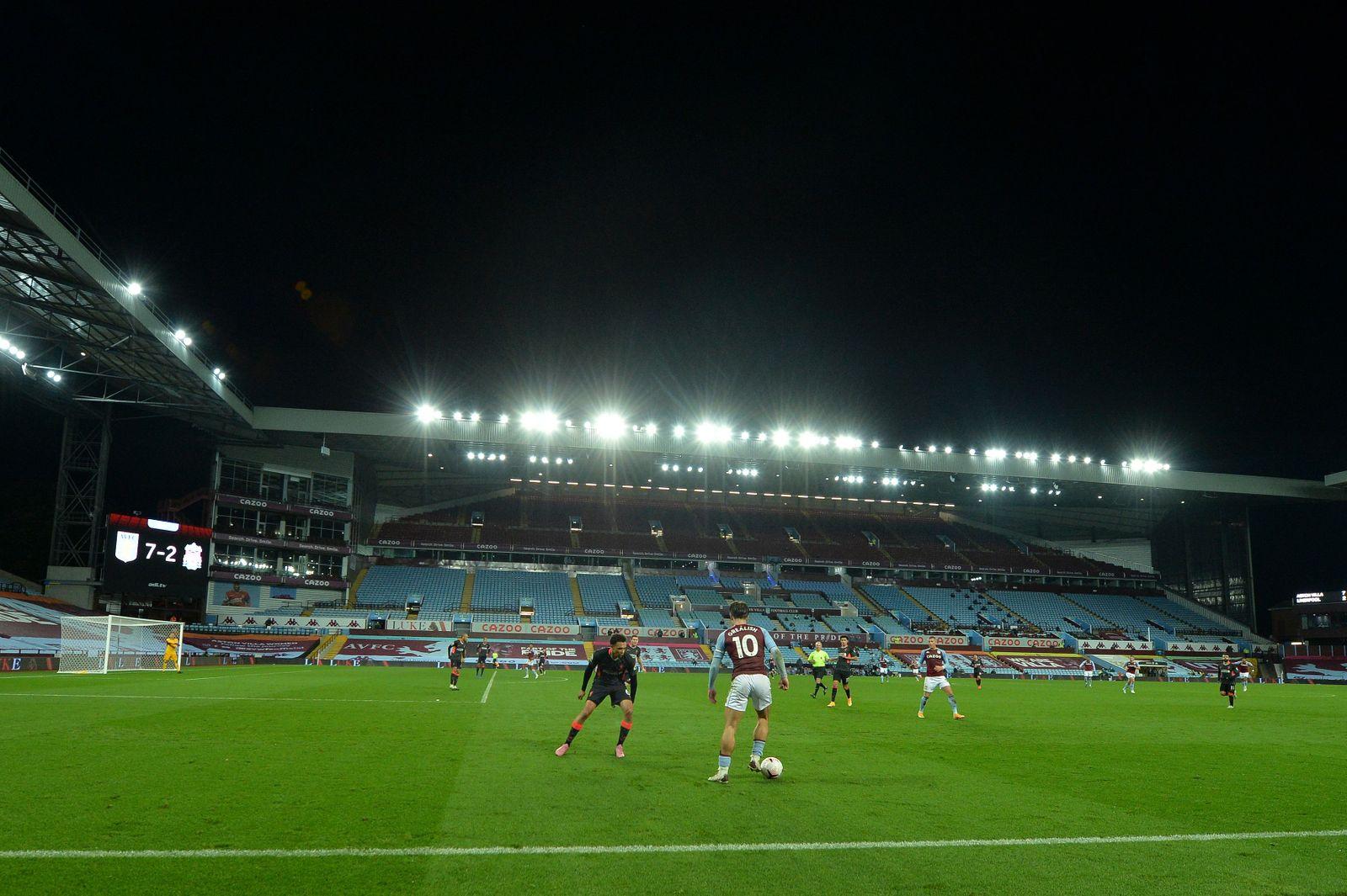 Aston Villa vs Liverpool, Birmingham, United Kingdom - 04 Oct 2020