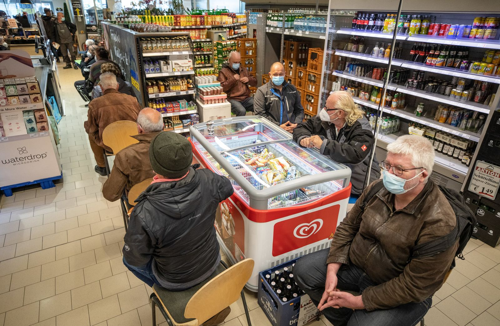 Coronavirus - Impfaktion in Supermarkt