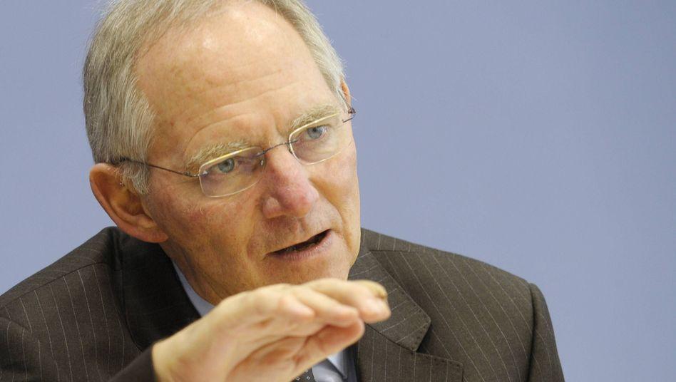 """Finanzminister Schäuble: """"Strukturelle Lücke"""" von 60 Milliarden Euro"""