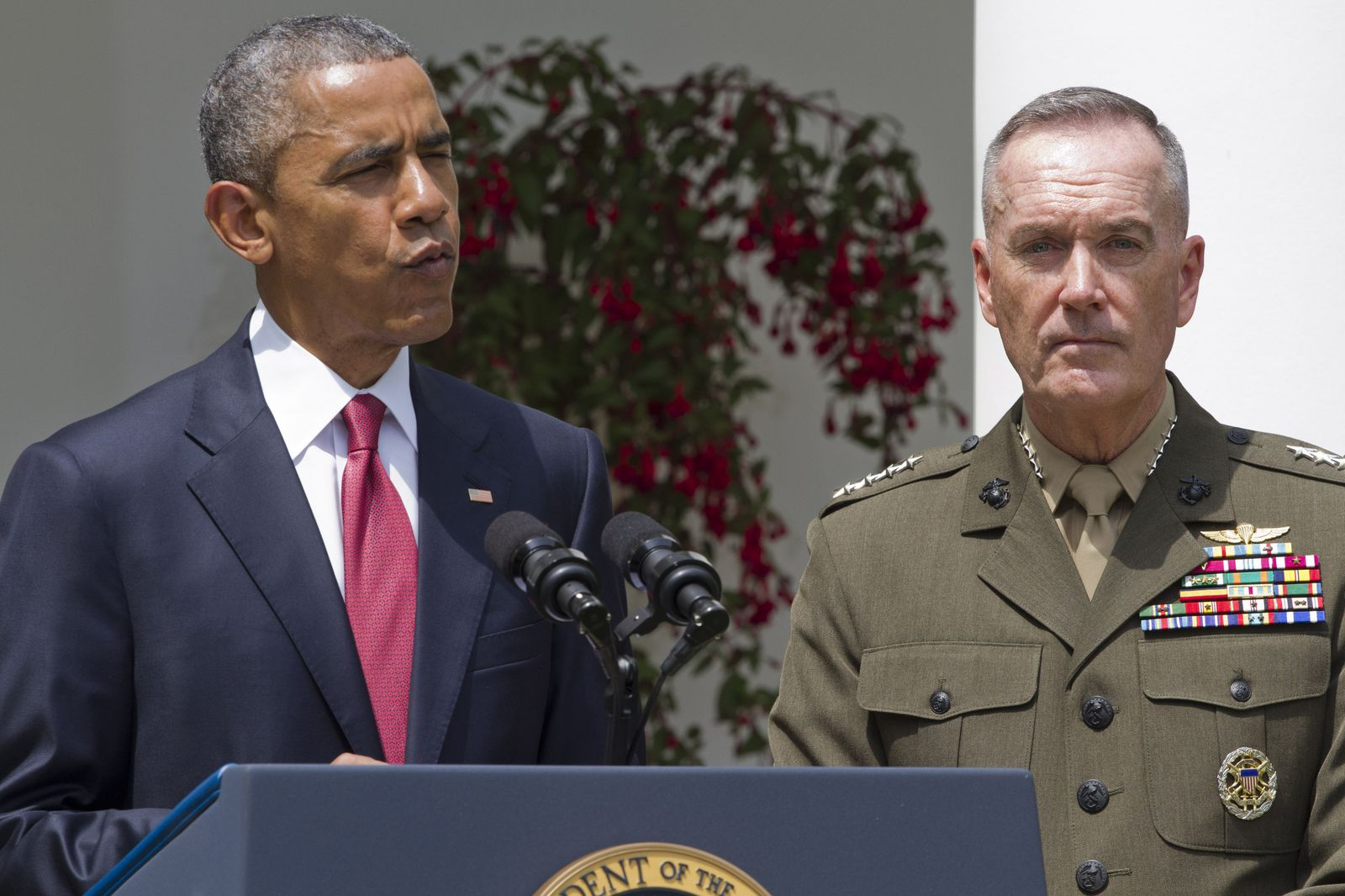 Barack Obama, Joseph F. Dunford, Martin Dempsey
