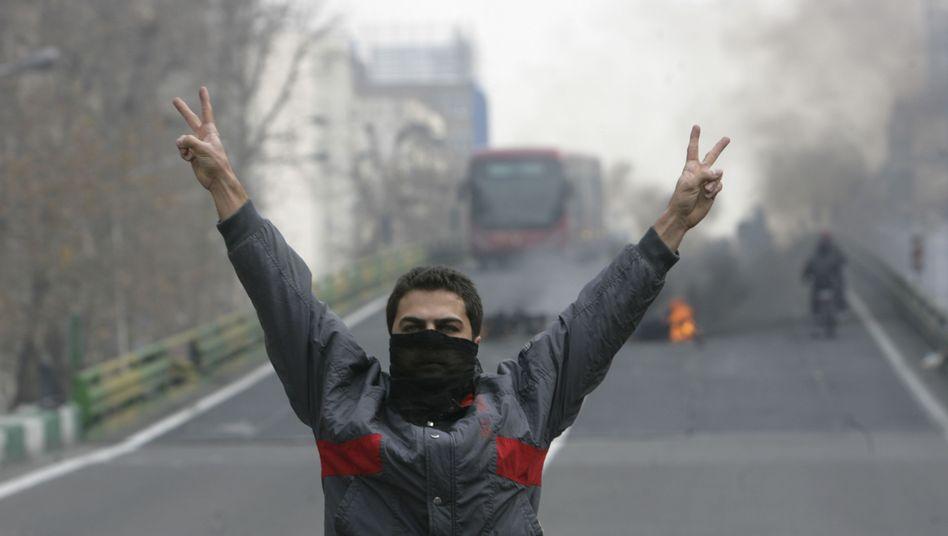 Demonstrant in Teheran: Proteste gegen die iranische Regierung