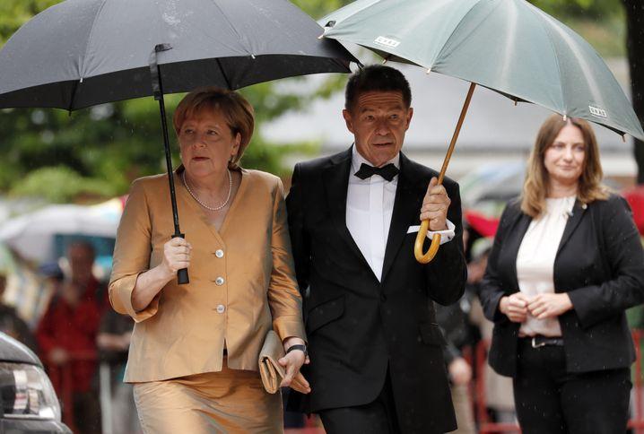 Auf dem Weg in den Urlaub stoppte Merkel wie jedes Jahr in Bayreuth