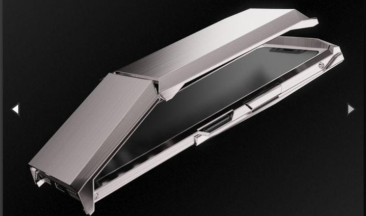 Der Titandeckel schützt das Display und dient als Standfuß